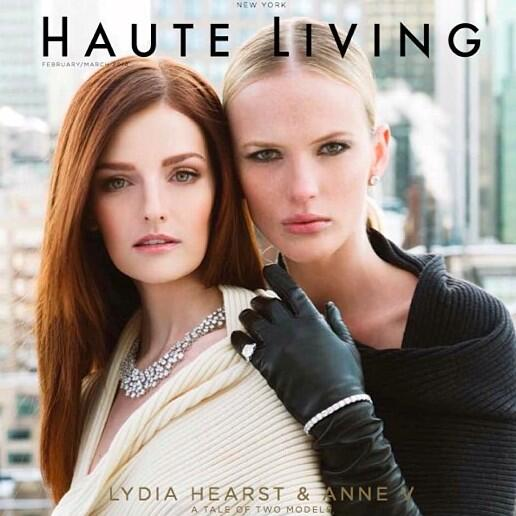 Anne V & Lydia Hearst Haute Living Cover