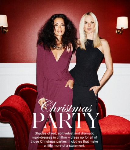 Anne V for Gina Tricot Christmas 2014 banner 1