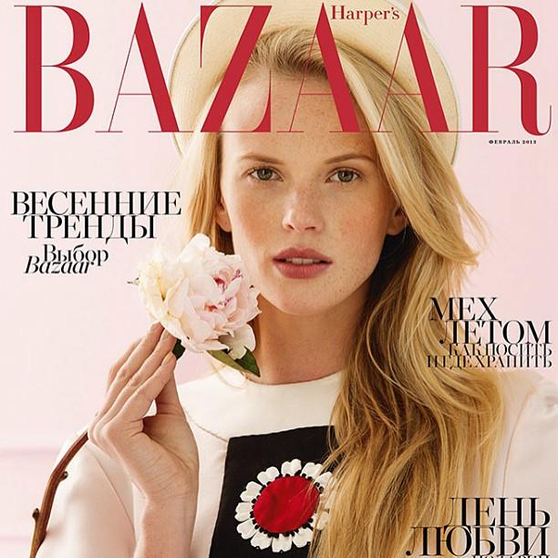 Anne V Harper's Bazaar Russia February 2013
